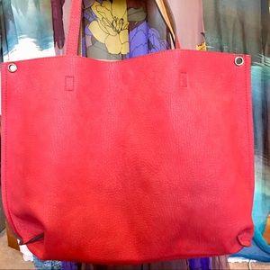 Free People Slouchy Vegan Leather Reversible Bag
